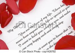 stock photo of romantic love letter a romantic love letter for