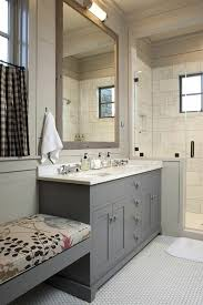 farmhouse style bathrooms farmhouse style bathroom with walk in shower love the built in