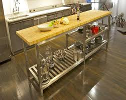 kitchen island steel butcher block stainless steel kitchen island home interior