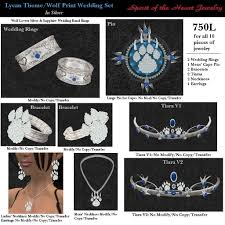 wolf wedding rings second marketplace lycan wolf print silver wedding set 10pc