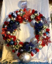 88 80 on etsy white and blue wreath made with