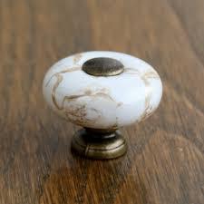 porcelain kitchen cabinet knobs aliexpress buy antique brass marble porcelain drawer knobs