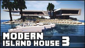 minecraft modern island house 3 youtube