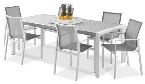 9 Pc Patio Dining Set by Biscayne 9 Piece Outdoor Dining Set Light Grey Leon U0027s