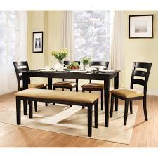 space saving with unique dining room table with bench and chairs