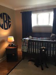 Pottery Barn Madras Curtains Boys Nursery Pottery Barn Madras Monogram Baby