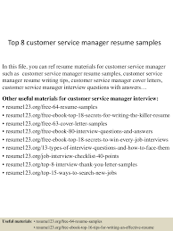 Best Customer Service Manager Resume by 100 Resume Format For Customer Service Manager Free Resume