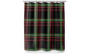 christmas plaid shower curtain groupon goods
