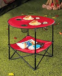 folding camping table with shelf the lakeside collection