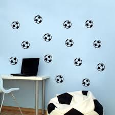 football room stickers sticker creations diy black football vinyl wall sticker soccer ball kid room decal
