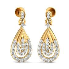 real diamond earrings diamond earrings 0 48 ct real certified solid gold special occasion