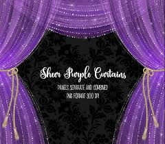 Purple Curtains Sheer Purple Curtains Clipart