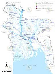 Map Of Rivers Flood Forecasting And Warning Centre Bwdb Bangladesh