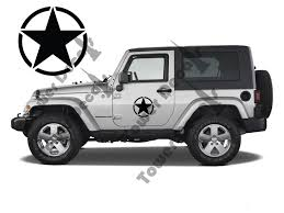 army jeep 2017 10â u20ac half door army stars for jeep wrangler rubicon cherokee