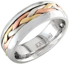 Lord Of The Rings Wedding Band by Tri Colored Wedding Bands Three Stranded Cords Applesofgold Com