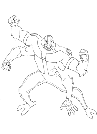 coloring ben 10 coloring pages 9