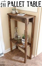 Remodelaholic How To Build A Desk With Wood Top And Metal Legs by Build A Simple Console Table Or End Table For Under 10 Using Old