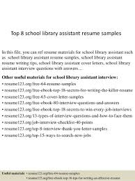 Library Resume Library Assistant Cover Letter