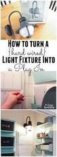 Plug In Hanging Light Fixtures by How To Turn A Hard Wired Light Fixture Into A Plug In Lights
