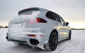 porsche suv turbo 2015 porsche cayenne turbo s acceleration on snow youtube