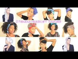 different styles or ways to fix human hair 12 head scarf styles for natural hair kashtv youtube