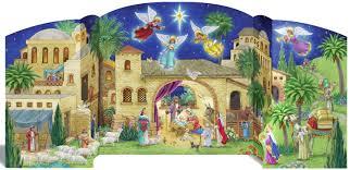 nativity advent calendar the aisle bethlehem nativity advent calendar reviews wayfair
