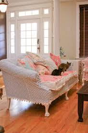Shabby Chic Slipcovered Sofa Decor Lovely Shabby Chic Slipcovers For Enchanting Furniture