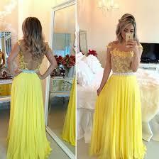 dress yellow dress open back lace dress long dress evening