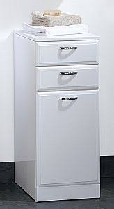 White Gloss Denia Bathroom Cabinet With Drawers En Suite - Bathroom cabinets in white gloss