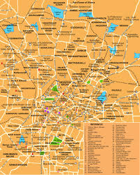 South India Map by City Maps Stadskartor Och Turistkartor China Japan Etc Travel