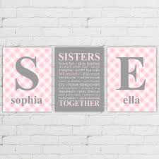 Gray And Pink Nursery Decor by Twin Nursery Decor Twin Baby Gifts Twin Girls First