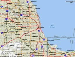 chicago map chicago illinois map