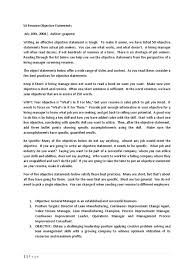 Management Objective For Resume 50 Resume Objective Statements Sales Chief Information Officer