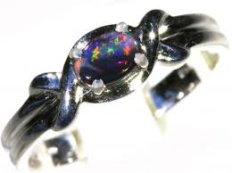 black opal engagement rings solid black opal 18k white gold engagement ring