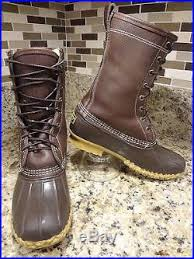 womens boots size 8 vintage ll bean boots size 8 m shearling brown leather usa