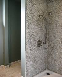 mosaic bathroom tile home design ideas pictures remodel brown ceramic shower box wall with decorative mosaic glass most seen