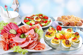 easter dishes traditional traditional easter breakfast stock image image of roasted salad