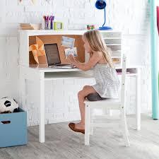 guidecraft media desk u0026 chair set white hayneedle