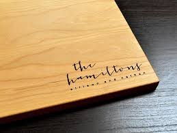 personalized engraved cutting board personalized the hamiltong wedding favors and gifts custom