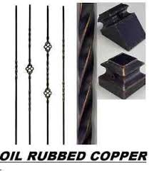 Metal Banister Spindles Iron Balusters Iron Spindles Metal Stair Parts Hollow Oil Rubbed