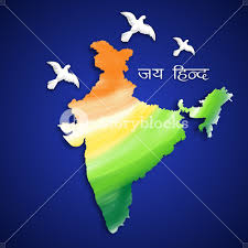Flag Of Inida Republic Of India Map In National Flag Colors Royalty Free Stock