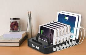 okra 7 port charging station for tablets and phones yugster