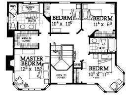 Victorian Floorplans Victorian Style House Plan 4 Beds 2 50 Baths 2174 Sq Ft Plan 72 137