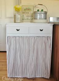 Designer Kitchen Trash Cans by How To Hide A Trash Can Disguise Ugly Garbage Can