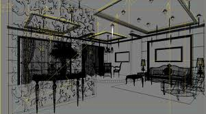 exotic bar with exclusive wooden partition 3d model max