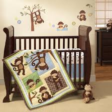 Boy Monkey Crib Bedding Lambs Crib Set M Is For Monkey 3 Set Shop Your Way