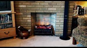electric fireplace insert with heater akdy 33 in freestanding