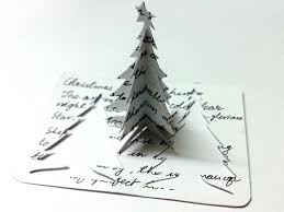 3d diy christmas tree greeting card