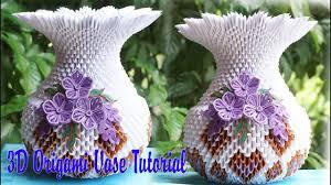 how to make 3d origami vase v1 diy paper vase handmade