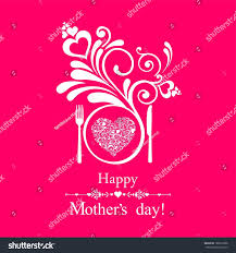 happy mothers day restaurant menu card stock illustration